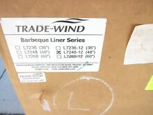 NEW Trade Wind L7248 12 Barbeque Grill Liner Stainless Steel Hood 48  L724812