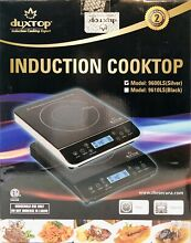 Portable Induction Cooktop Countertop Burner Hot Plate LCD Sensor Touch Silver