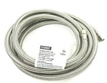 EVERBILT Water Supply Line Hose for Ice Maker 10ft Braided Stainless Steel 1 4