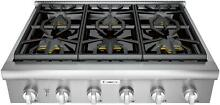 Thermador 36  Precision simmering 6 Star Burner Stainless Gas Rangetop PCG366W