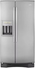 Whirlpool Gold Side By Side Monochromatic Stainless Steel Refrigerator GS6NHAXVK