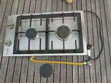 CS1012 G Miele Double Gas Burner Cook top Stainless Steel USED RANGE STOVE