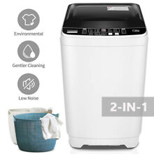 Full Automatic Washing Machine Compact Laundry Washer Spin with Drain Pump 21Lbs