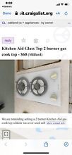 Kitchen aid Glass Top 2 Burner Used Local Pick Up