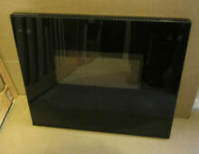 GE  24  WALL OVEN  OUTER DOOR GLASS WITH FRAME  BLACK  WB15T10122