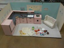N Structo Toy Little Miss Kitchen Appliances w background 1950S GENERAL ELECTRIC