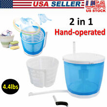 Portable 2KG Hand operated Mini Washing Machine Compact Spin Dryer Traveling US