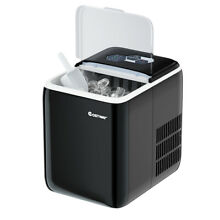 Electric Ice Maker Machine for Countertop 44Lbs 24H Self Clean with Scoop Black