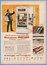 1950 Westinghouse Frost Free Refrigerator postmarks US Mail postal carrier ad