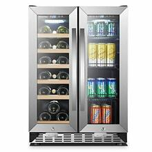 Sinoartizan Under Counter Wine and Beverage Cooler 18 Bottles and 55 Cans