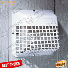 Dryer Vent Hood White Exhaust Fan Cover Wide Mouth Bird Guard 3   4