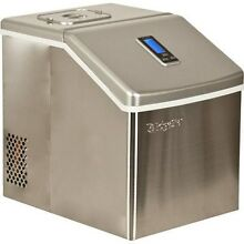 Edgestar Stainless Steel Portable Clear Ice Maker  Countertop Ice Cube Machine