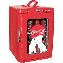 Compact Coca Cola 28 Can Mini Refrigerator  Countertop Coke Dorm Office Fridge