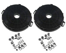 2x Universal Cooker Hood Filter Carbon Activated Charcoal Round 210mm