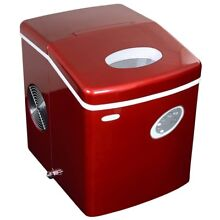 NewAir Portable Ice Maker Compact Countertop Designer Red Makes 28 lbs Day