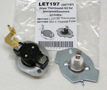 N197 Dryer Limit   Thermal Thermostat Kit for Whirlpool Kenmore W10900067