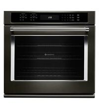 KitchenAid KOSE500EBS 30  Electric Single Wall Oven  Black Stainless
