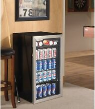 Beverage Center Cooler 3 3 Cu  Ft  Stainless Steel Man Cave Essential Bar Patio