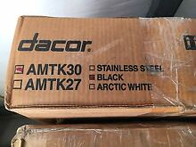 DACOR AMTK30B 30  BLACK MICROWAVE TRIM KIT  NEW IN BOX SHIPS FREE
