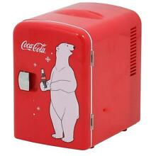 10 4 in  6  12 oz  Coca Cola Mini Fridge Refrigerator Personal Cooler in Red