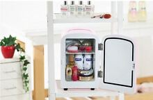 Mini Portable Refrigerator 4L Cooler   Warmer for cosmetic Fridge pink