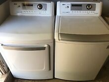 White lg washer and dryer front load 1 year old separates