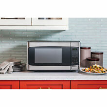 GE 1 1 cu  ft  Countertop Microwave Oven  Stainless