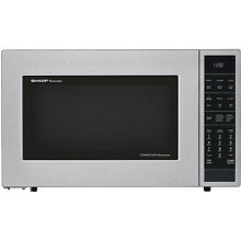 Sharp 1 5 Cu  Ft  900 Watts Stainless Steel Countertop Convection Microwave