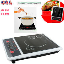 USA Electric Induction Cooktop Portable Kitchen Ceramic Cooker Cook Top 1300W