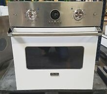 Viking VESO5272WH 27  Single Electric Wall Oven  White   Stainless Steel