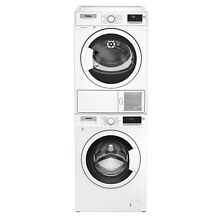 Blomberg WM98200SX 24  Compact Front Load Washer and DHP24400W Ventless Dryer Co
