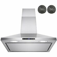 AKDY Range Hoods 30  Wall Mount Stainless Steel Touch Control Kitchen Ductless