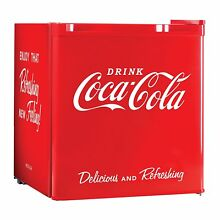 NEW Coca Cola Coke Fridge Compact Personal Refrigerator Freezer Cu Ft Red Dorm