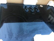 Whirlpool Gold G7CE3635XB Black 36  Electric Cooktop with 5 Burners   NIB