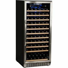 Stainless Steel 121 Bottle Built In Wine Cooler  Commercial Cellar Chill Fridge