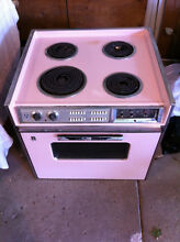 Vintage GE Mark 27  Electric Range Stove 1960 s Pink Mid Century   Drop In Stove