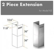 ZLINE CHIMNEY EXTENSION WALL RANGE HOOD up TO 12 FT ceiling for KZ model