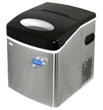 NewAir AI 215SS Stainless Steel Portable Ice Maker   50 Lbs  Daily Capacity