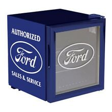 Ford Beverage Chiller Mini Fridge   Blue   White Ford Logo FRD 47006