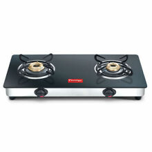 2 Burner Cooktop Glass Prestige Marvel Top Range Black Gas Stove Manual Ignition