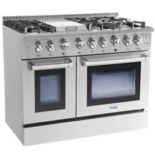 Thor Kitchen 48 Gas Rangetop Electric Oven 6 Burners Cooktop HRD4803U  Dual Fuel