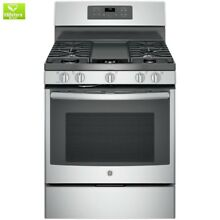 5 0 cu  ft  Gas Range with Self Cleaning Convection Oven in Stainless Steel