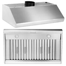 36  stainless steel range hood 900CFM centrifugal blower 4 speed With LED Lamp