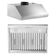 Kitchen 30  900 CFM Under Cabinet Range Hood in Stainless Steel With LED Lamp US