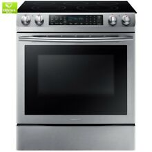 5 8 cu  ft  Slide In Electric Range with Self Cleaning Dual Convection Oven in S