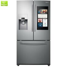 24 6 cu  ft  Family Hub French Door Smart Refrigerator in Stainless Steel