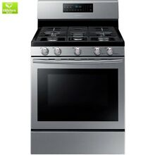 30 in  5 8 cu  ft  Gas Range with Self Cleaning and Fan Convection Oven in Stain