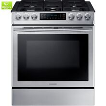 30 in  5 8 cu  ft  Single Oven Gas Slide In Range with Self Cleaning and Fan Con
