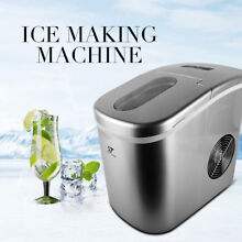 Silver Portable Ice Cold Maker Machine Bullet Shape Cube Countertop Ice Makers