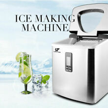 Stainless Steel Ice Cold Maker Machine Bullet Shape Cube Countertop Ice Freezers